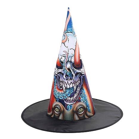 Amosfun - Disfraz de Halloween de Bruja, Sombrero con Forma de ...