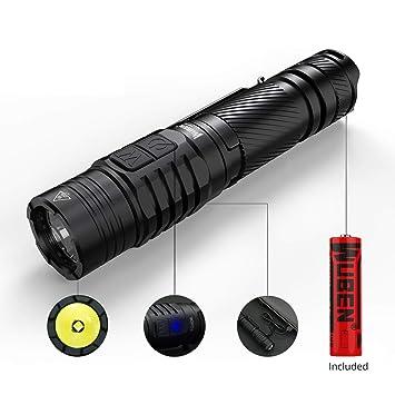 Handheld Cree V6Wuben® Tactique Lumens To40r Lampe Torche Ipx8 Double Commutateur Usb Xp Led Étanche 1200 Rechargeable L2 Côté VSUpqGzM