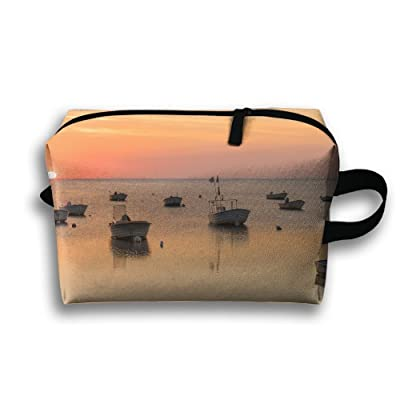 Pengyong Boat At Sunset Ocean Small Travel Toiletry Bag Super Light Toiletry Organizer For Overnight Trip Bag 80%OFF
