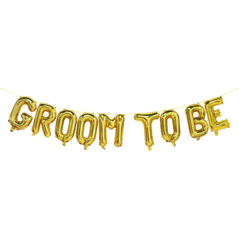 Mosoan Gold Groom to Beバルーン バチェラーパーティーバルーンデコレーション用品 ブライダルギフトアイデア 16インチ   B07D6ZZCLP
