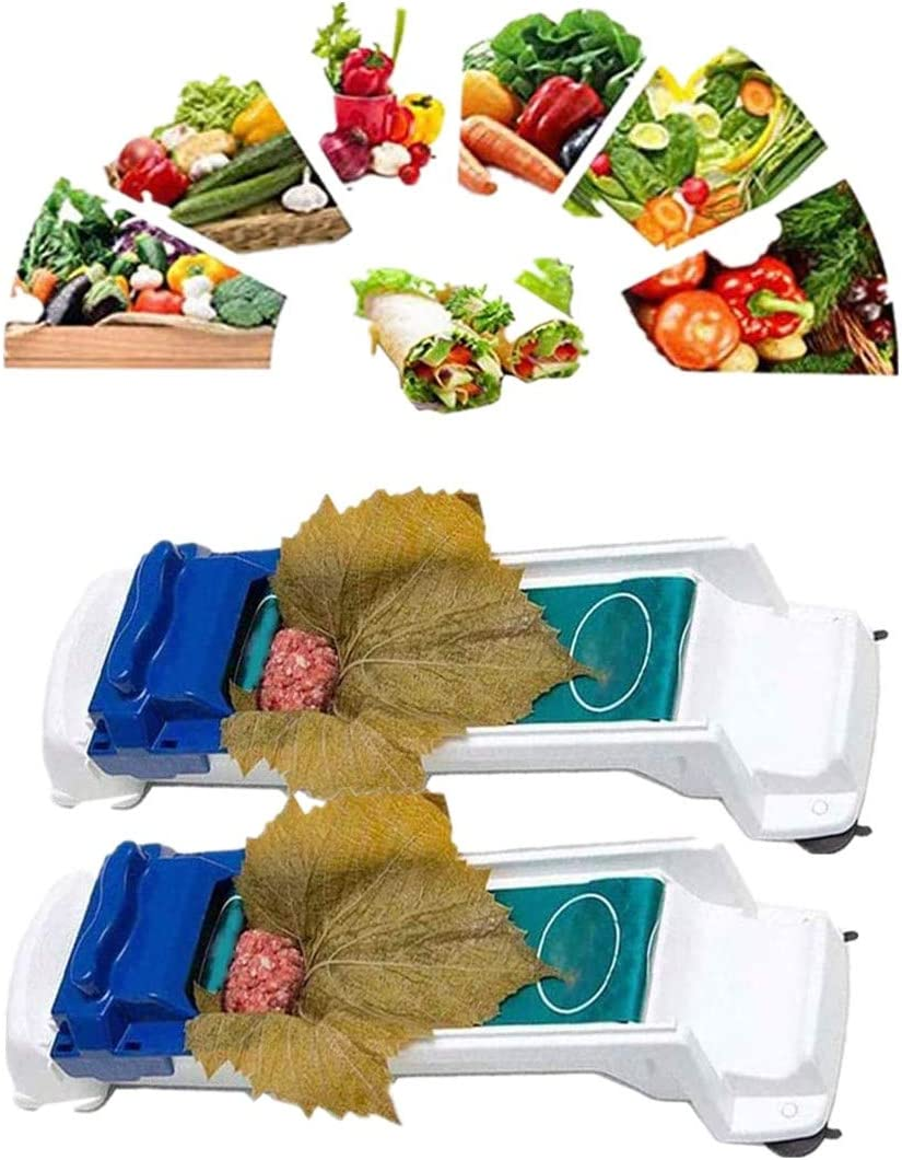 Akeicwel Vegetable Meat Rolling Tool,Stuffed Leaves Grape Cabbage,Leaf Roller, Vegetable Meat Dolma Sarma Rolling Magic Roller Stuffed (2 Pack)