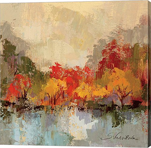 Fall Riverside II by Silvia Vassileva Canvas Art Wall Picture, Gallery Wrap, 24 x 24 inches