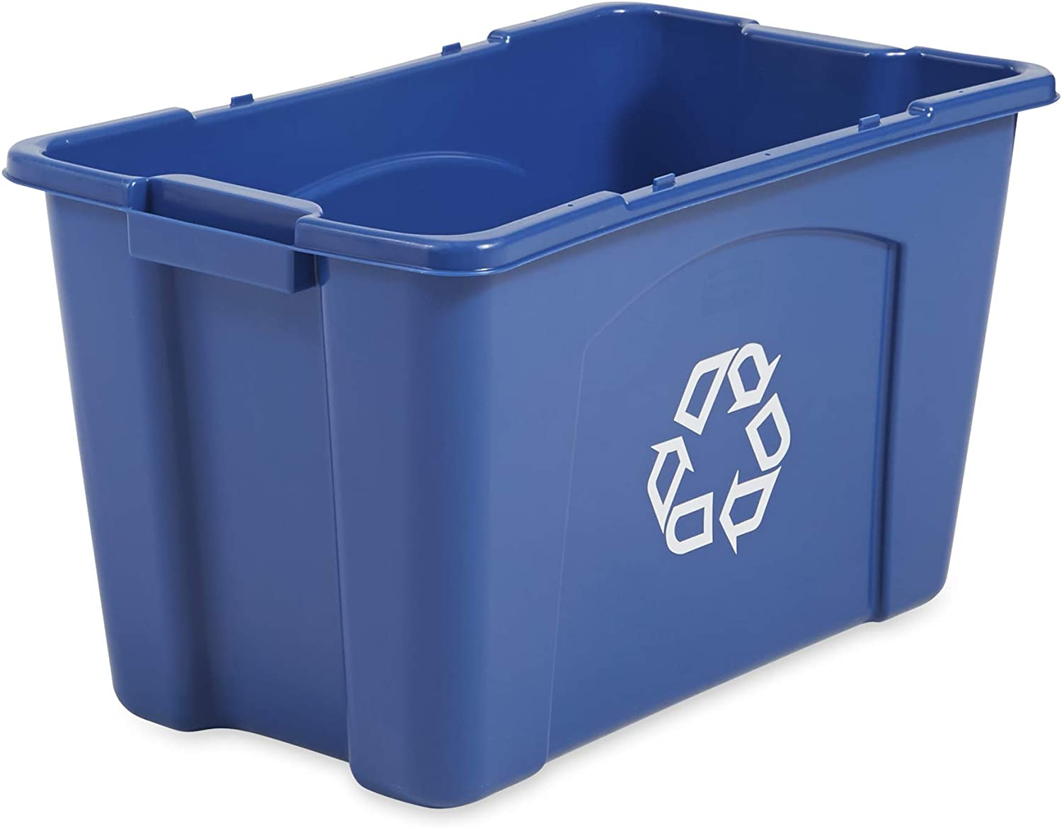 Rubbermaid Commercial Products Recycling Box/Bin, 18 Gallon, Blue