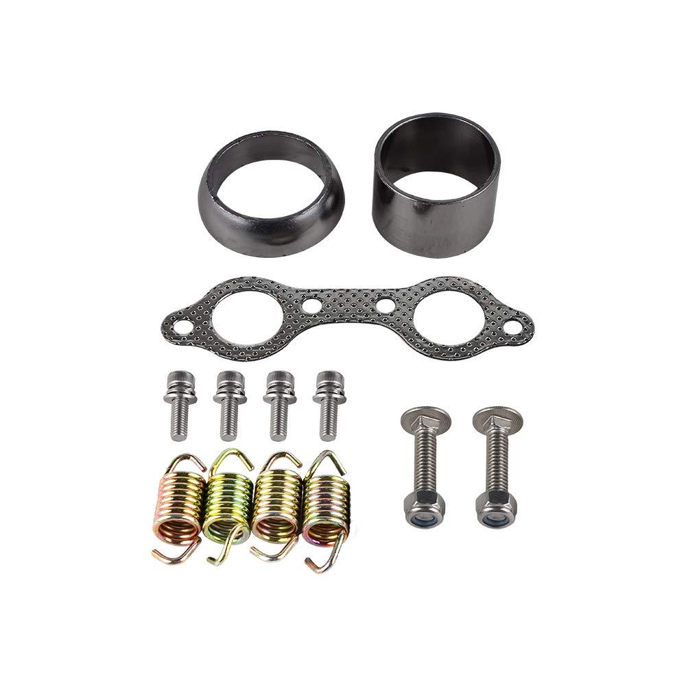 NICECNC Exhaust Manifold Gasket Spring Rebuild Kit Replace Polaris Std RZR 800 2011-2014,RZR-S//RZR-4 800 2009-2014,NOT fit the 2008-2009 std RZR 800!
