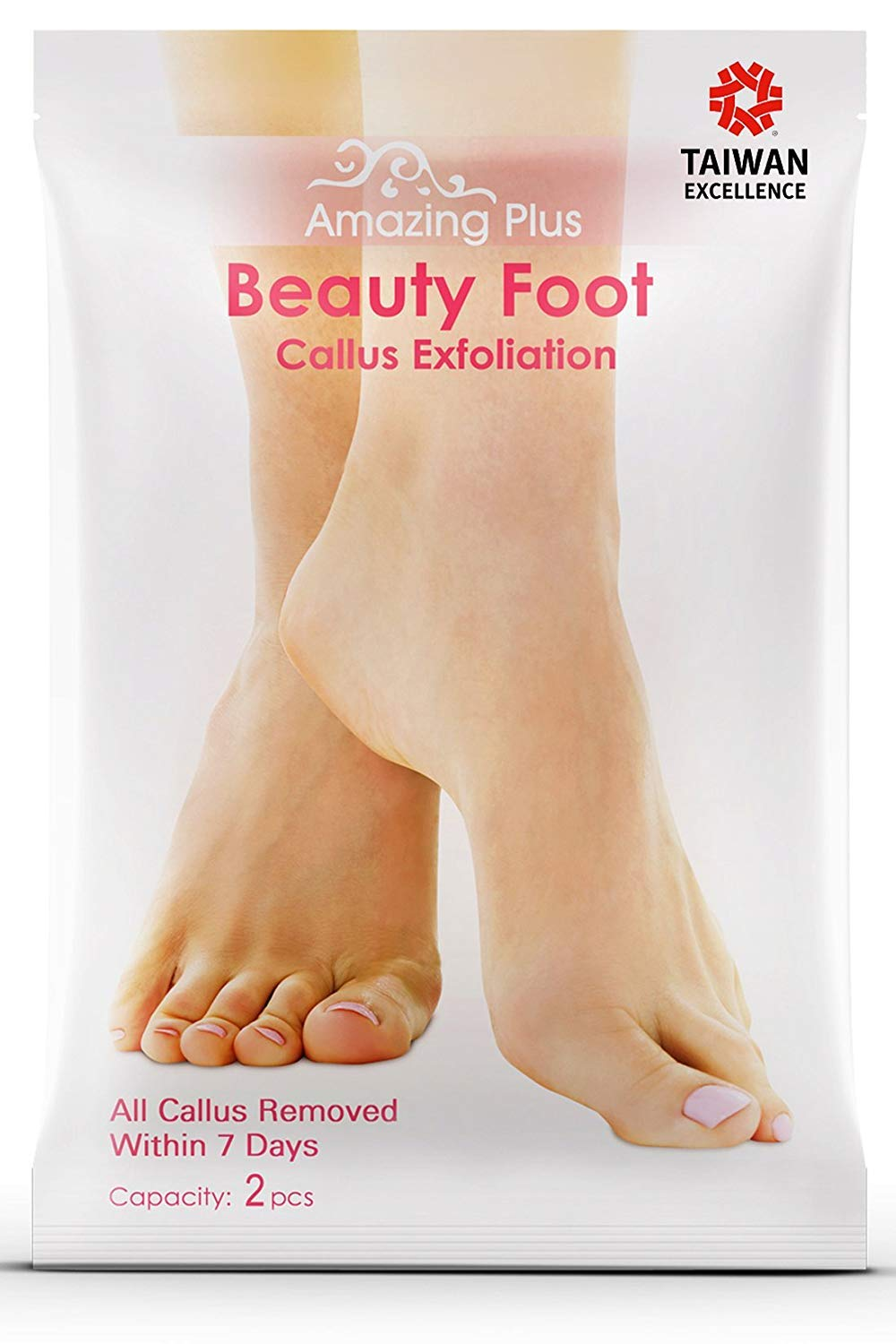 Exfoliating Foot Peel Mask for Smooth and Soft Feet - Peeling Away Rough Dead Skin and Calluses - Natural Peeling Formula for Baby Soft Feet After Single Use