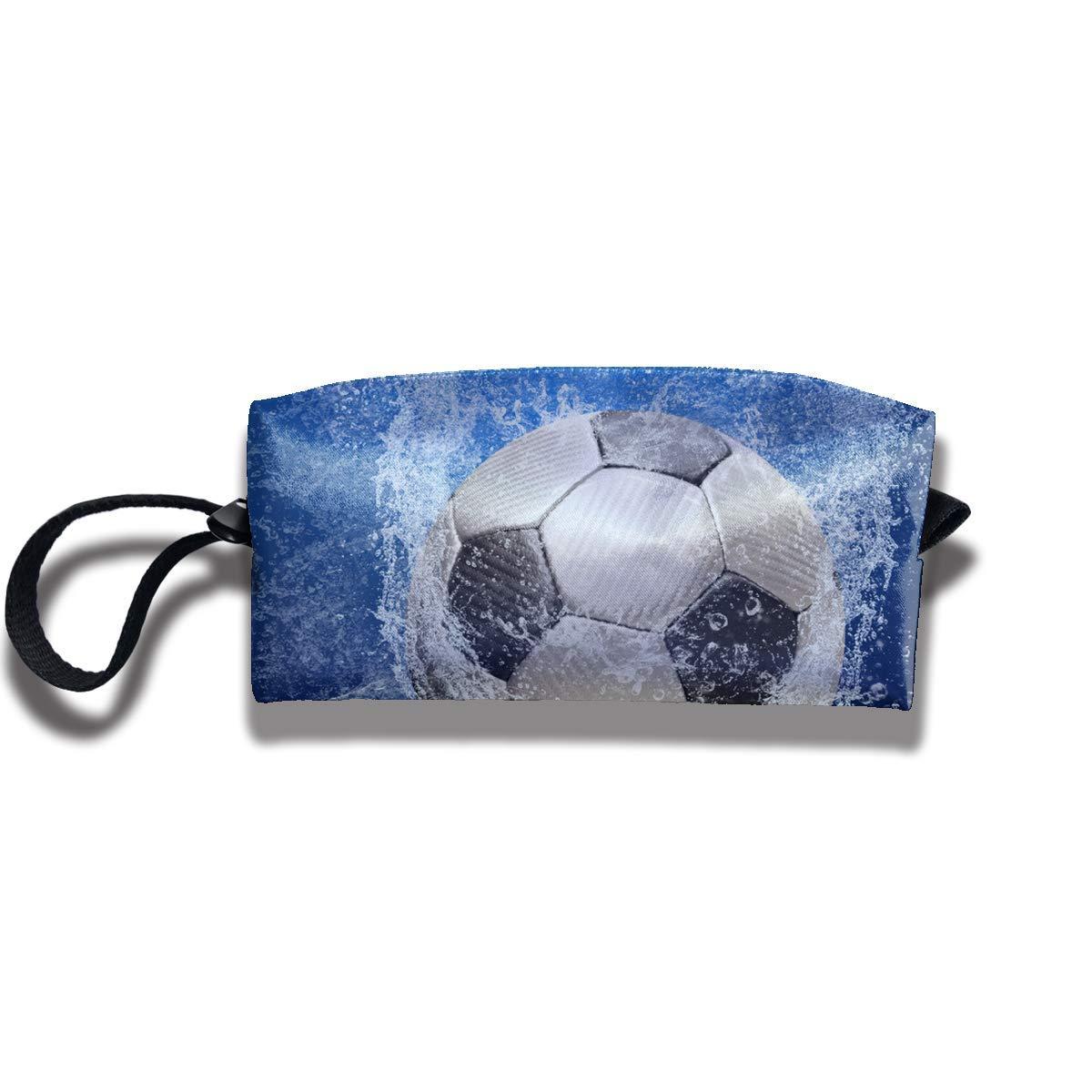Balón de fútbol Gotas de agua Lienzo Viaje Maquillaje Bolsa Bolso ...