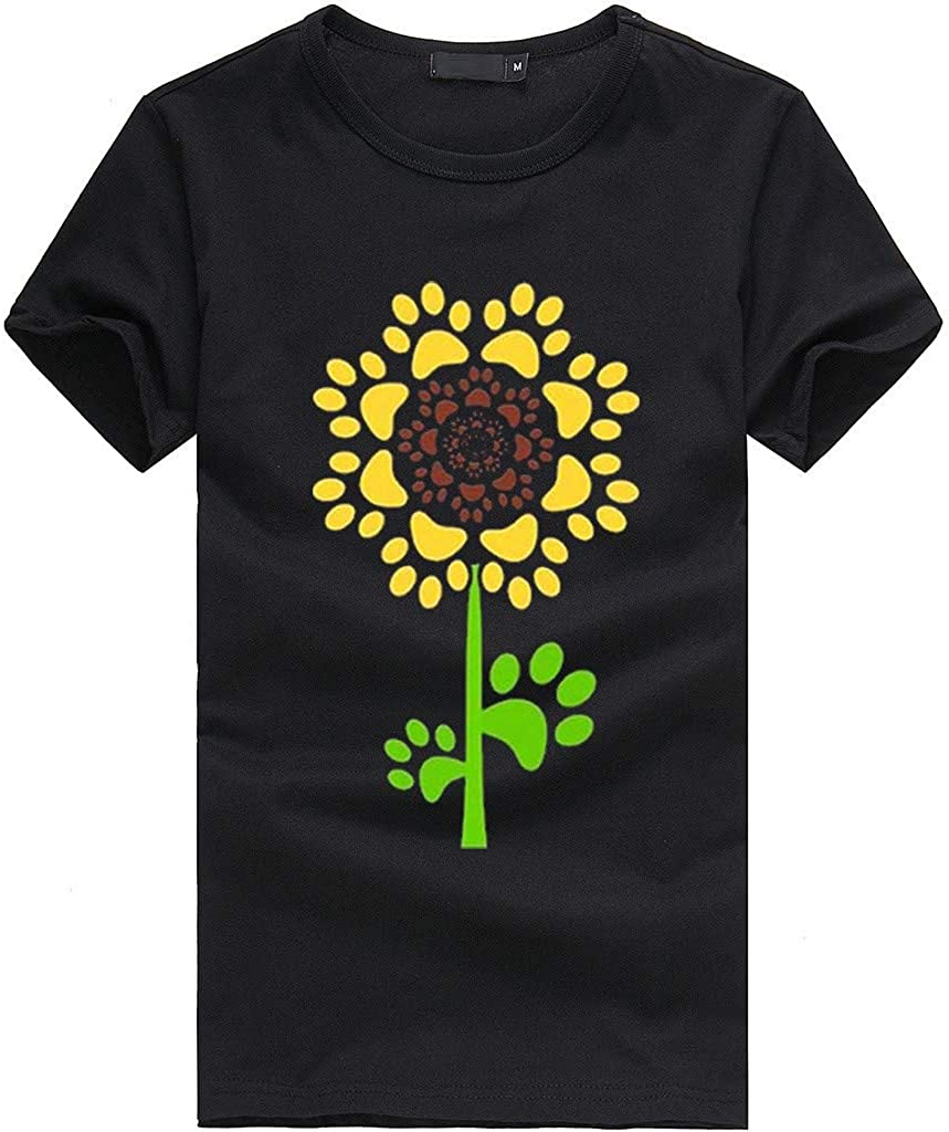 Sunflower Tops Summer Fashion T-Shirt Womens Short Sleeve Women T Shirt Loose Casual Tee Tunic Blouse