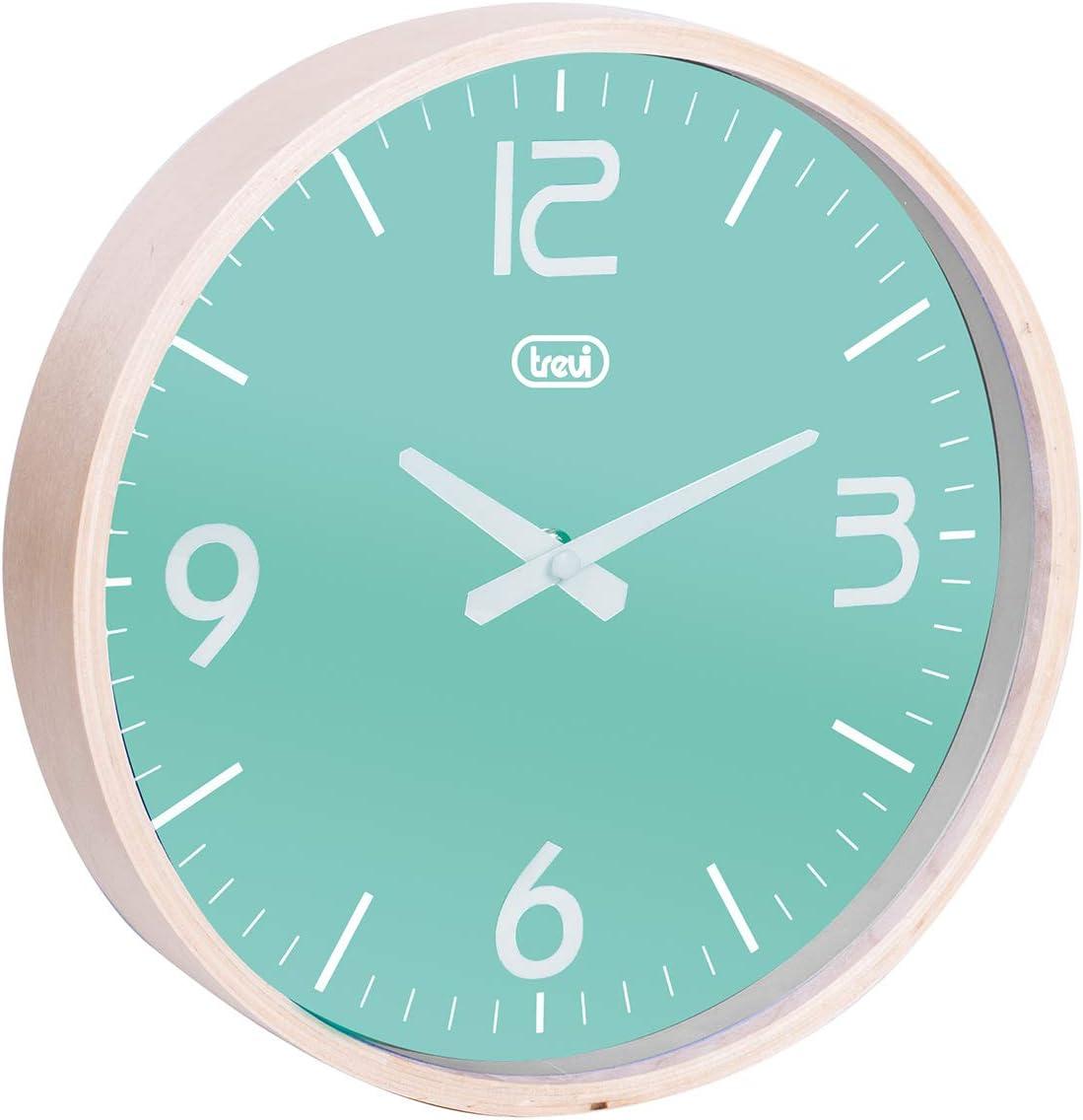 Trevi Om 3311/L Horloge Murale Bois//Plastique Turquoise 25