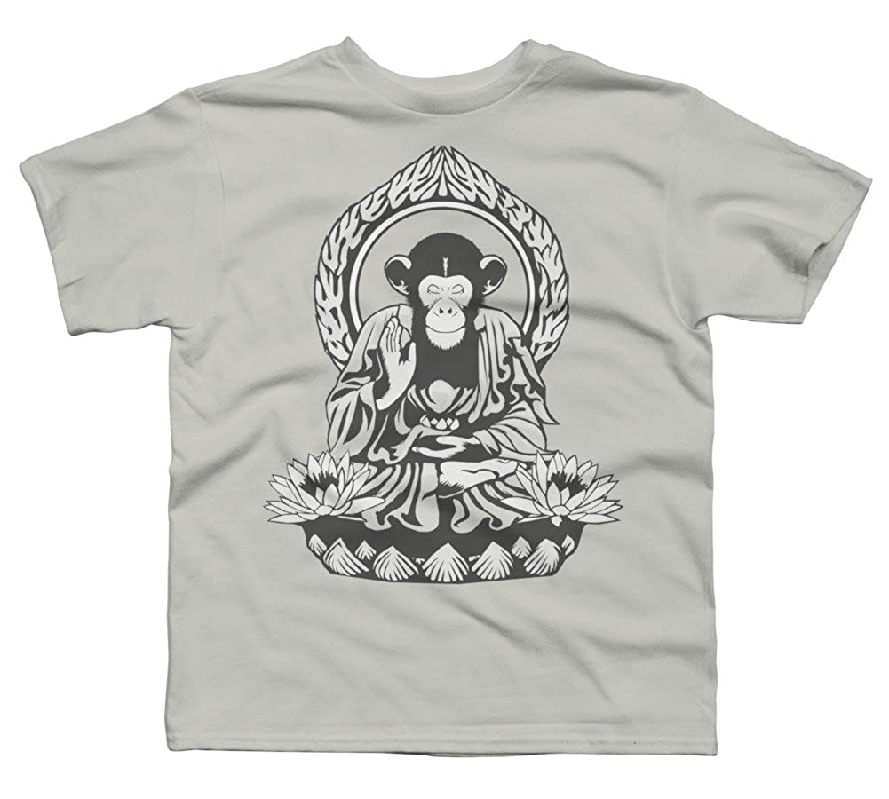 Design By Humans Zen Sapience Halftone Boys Youth Graphic T Shirt