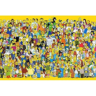 Kkxka Wooden Puzzle Hd Printed Poster Jigsaw Puzzle Home Puzzle Game Puzzle Anime Simpson Adult Decompression Intelligence Toys Collection Puzzle Educational Gifts for Children(1000 Pieces): Toys & Games