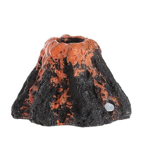 Tandou - Bomba de Aire con Forma de volcán para Acuario con Piedra de Burbujas