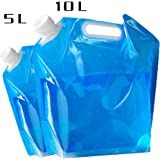 Coromose Foldable Water Bag Outdoor Portable High-Capacity Foldable Water Container Camping Emergency Survival Water Storage Carrier Bag