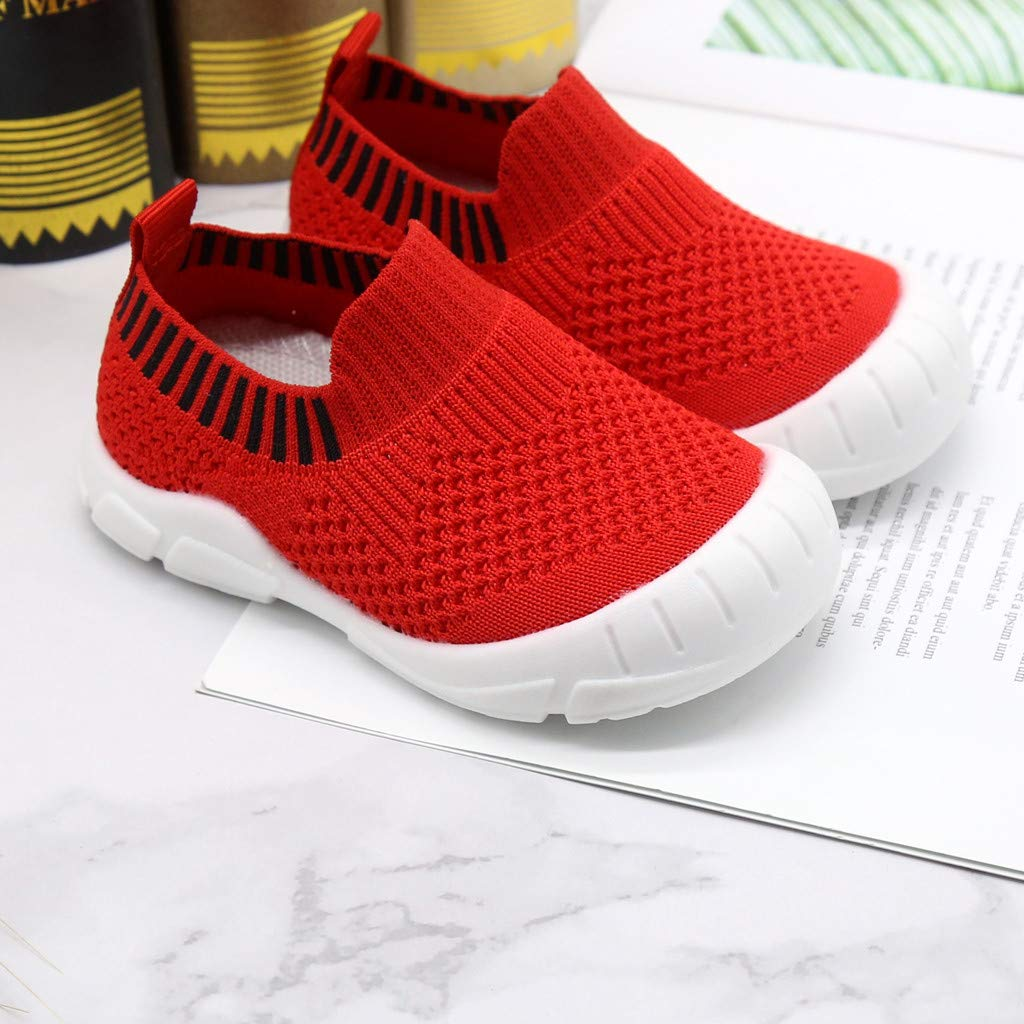New Casual Toddlers Leisure Chaussures Casual pour Enfants Mesh Respirant Fond Souple Chaussures 21-30 EU Jaune, Noir, Rouge