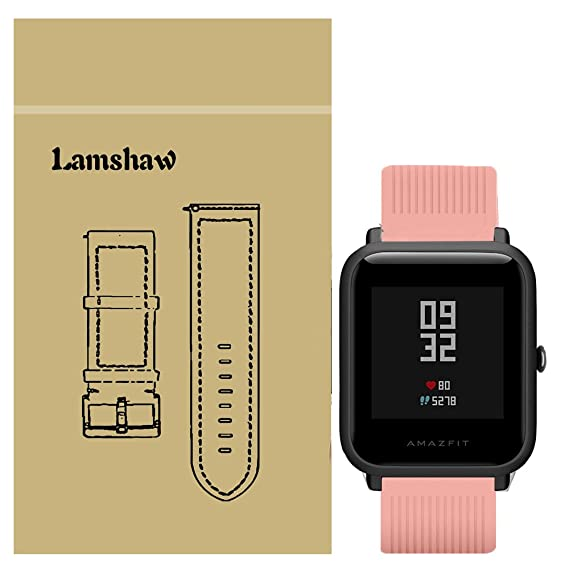for Xiaomi Amazfit Bip Band, Lamshaw Classic Silicone Sport Replacement Straps for Xiaomi Huami Amazfit