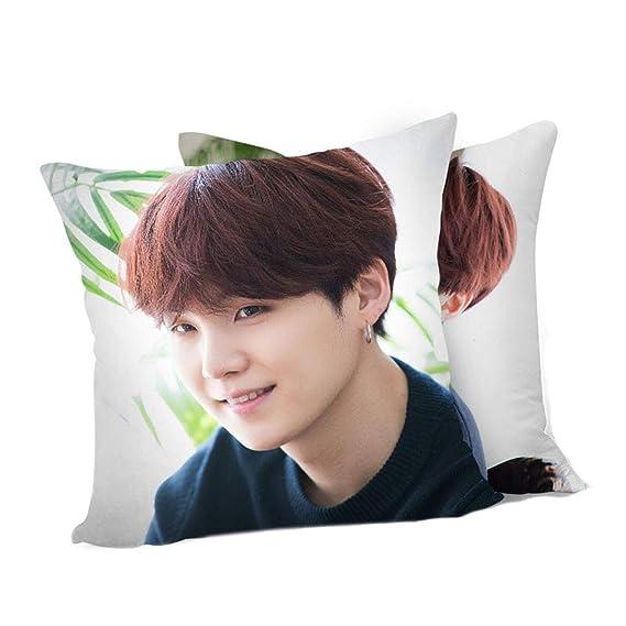 Amazon.com: ALLDECOR Kpop BTS - Cojín para sofá de doble ...