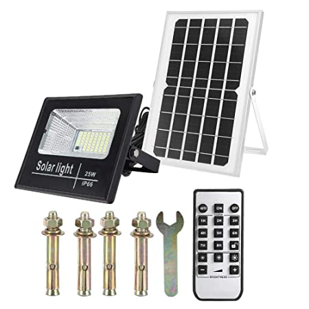 Zoternen - Foco Solar de Exterior 25/60/100W LED, Panel de ...