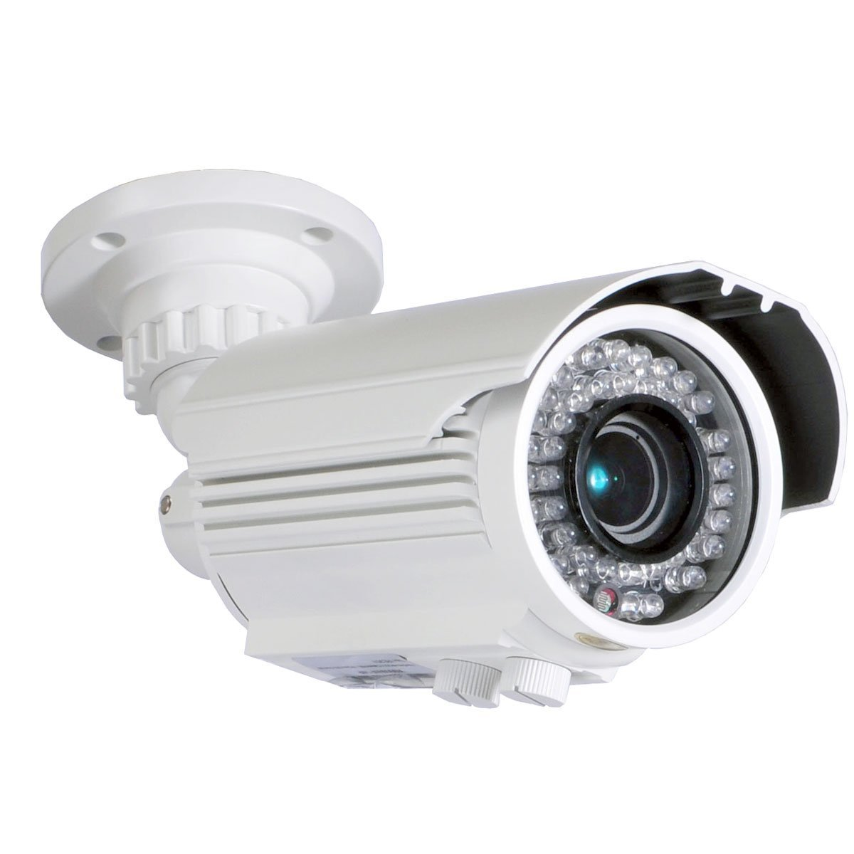 VideoSecu Built-in 1 3 Sony Effio CCD Bullet 700TVL High Resolution Day Night Outdoor 42 IR Infrared LEDs Varifocal Lens Security Camera for CCTV DVR Surveillance System with Free Power Supply BTZ