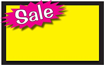 Amazon Com Retail Sale Signs Template 5 5 X3 5 Blank