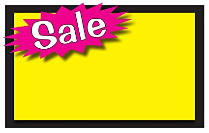 amazon com retail sale signs template 5 5 x3 5 blank sale price