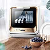 Home mini table dishwasher, dishwasher, small intelligent automatic design, low operating noise, no installation…