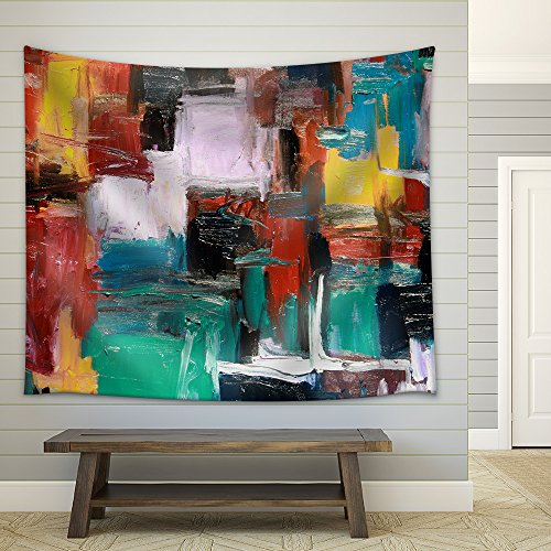 Abstract Painting Fabric Wall