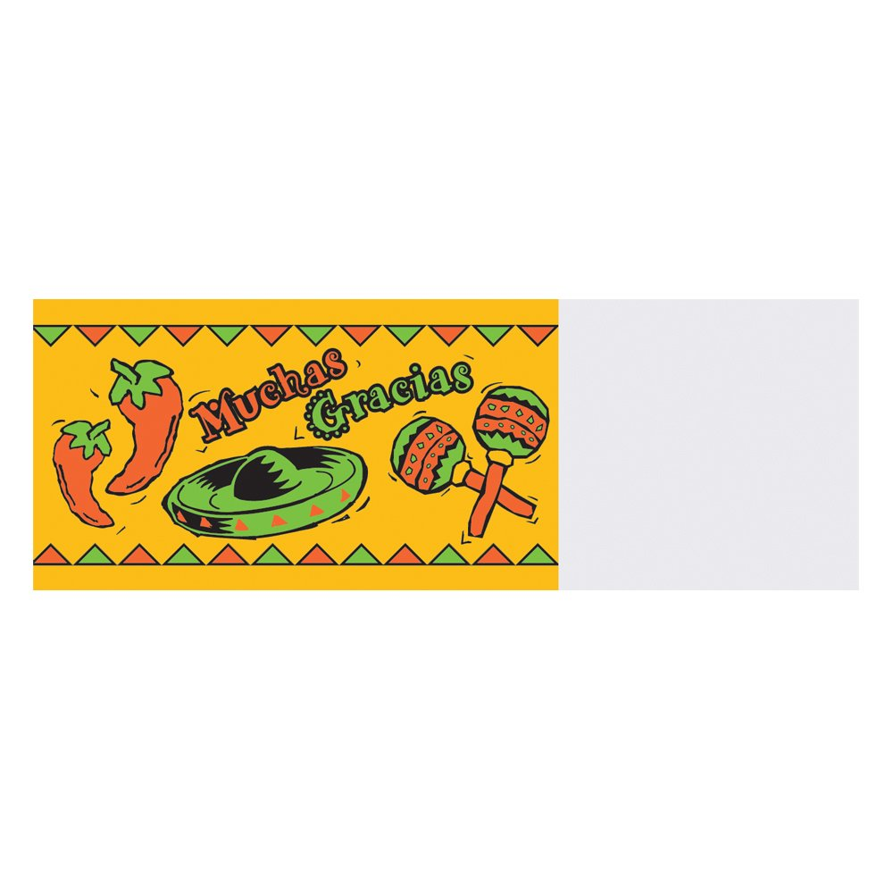 Hoffmaster 883121 Mexican Fiesta Adhesive Napkin Band, 4-1/4'' Length x 1-1/2'' Width, Chipboard Box (Case of 4000)