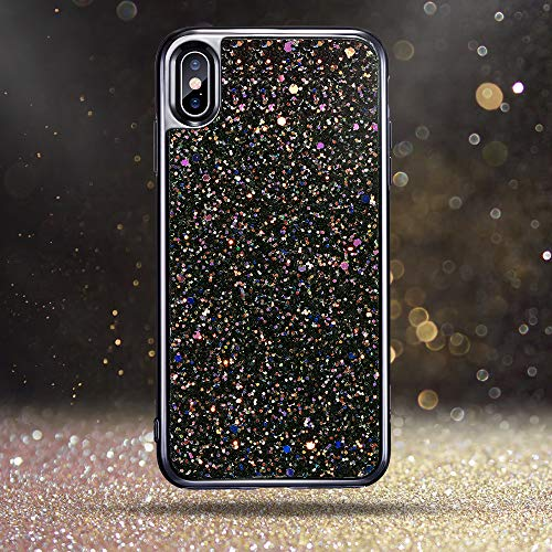 new concept 21b17 dc433 ESR Glitter Hard Case for iPhone Xs Max, Bling Hard Cover with Dual-Layer  Structure [Hard PC Back Exterior + Soft TPU Interior] for The iPhone 6.5 ...