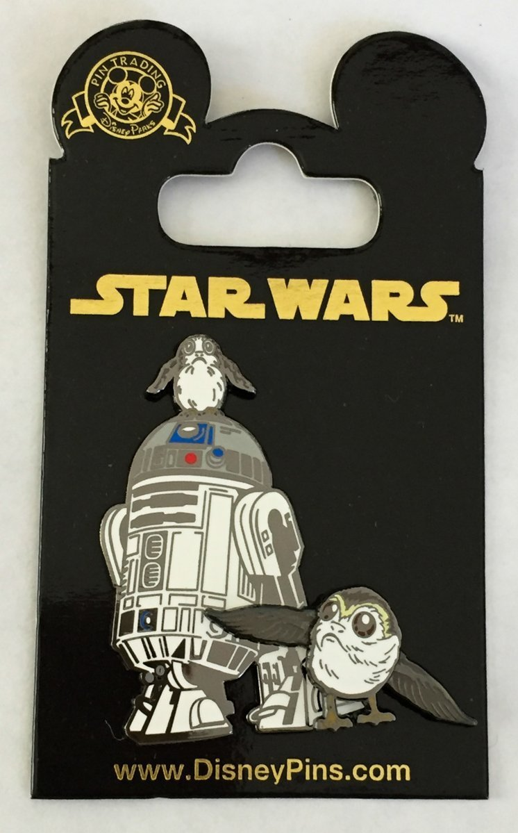Disney Pin - R2-D2 and Porg Swivel