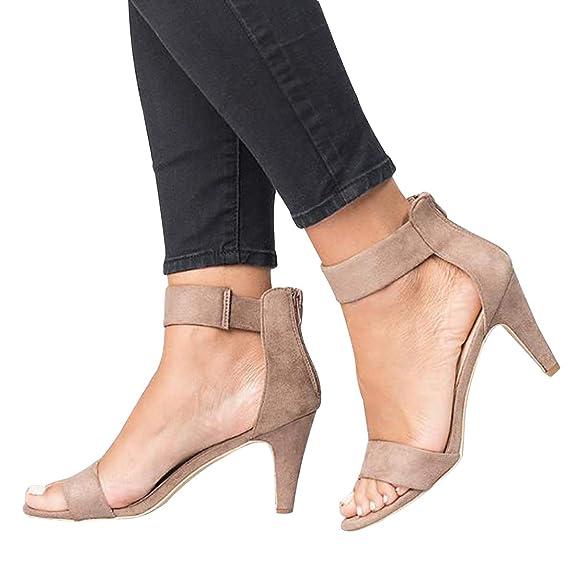 Shujin Damen High Heels Sandalen Schnalle Rockabilly Pumps