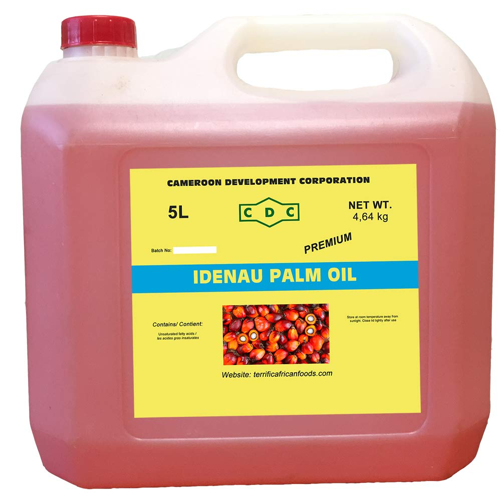 Pure African Red Palm Oil 5 Litre Bottle (5 Litre) by Mondoni