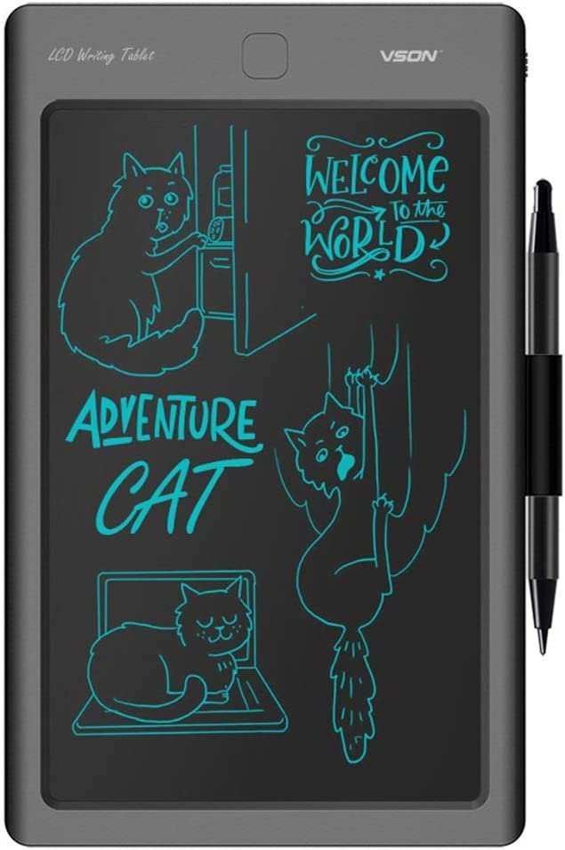 Office Family Black - 8.6 Inch LCD Writing Board//Electronic Writing Board//Painting Graffiti Board//Message Board//with Lock Screen//Suitable for Children