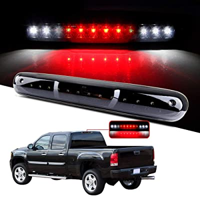 cciyu LED 3rd Brake Lights Cargo Lamp Assembly Automotive Tail Lights Smoke Lens Replacement fit for 2007-2013 Chevy Silverado GMC Sierra (Black + Smoke Lens): Automotive