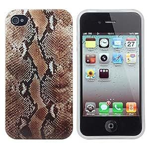 Serpentina Patrón TPU caso de la cubierta suave del Defensor para iPhone4 4S