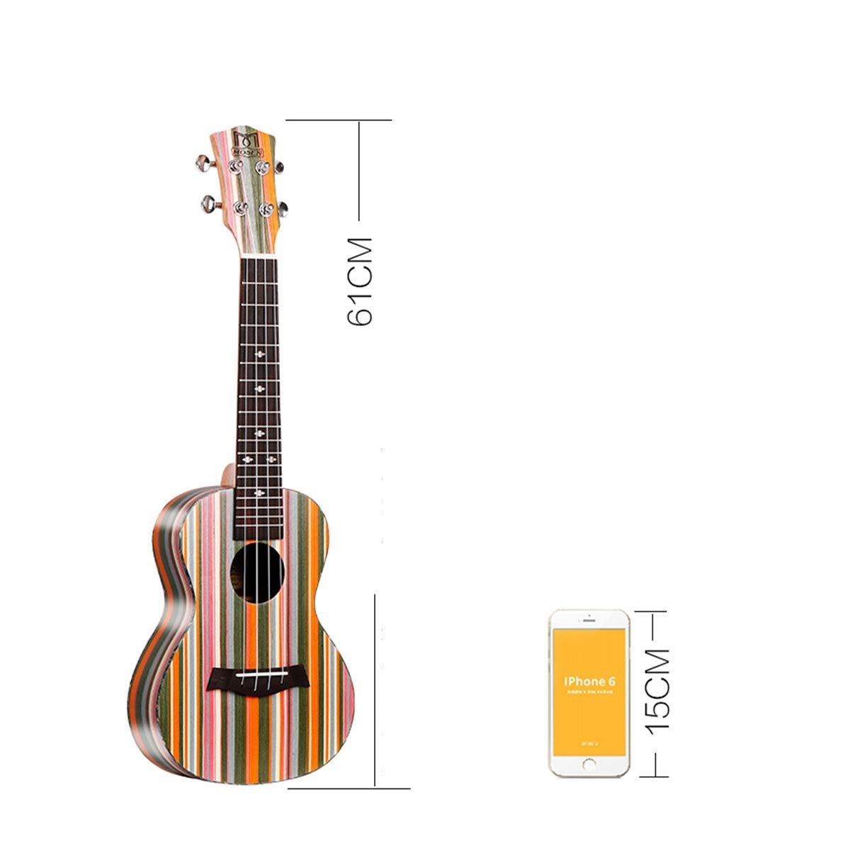Ukelele MUZIWENJU, G-05, con tecnología negra, ukelele, guitarra ...
