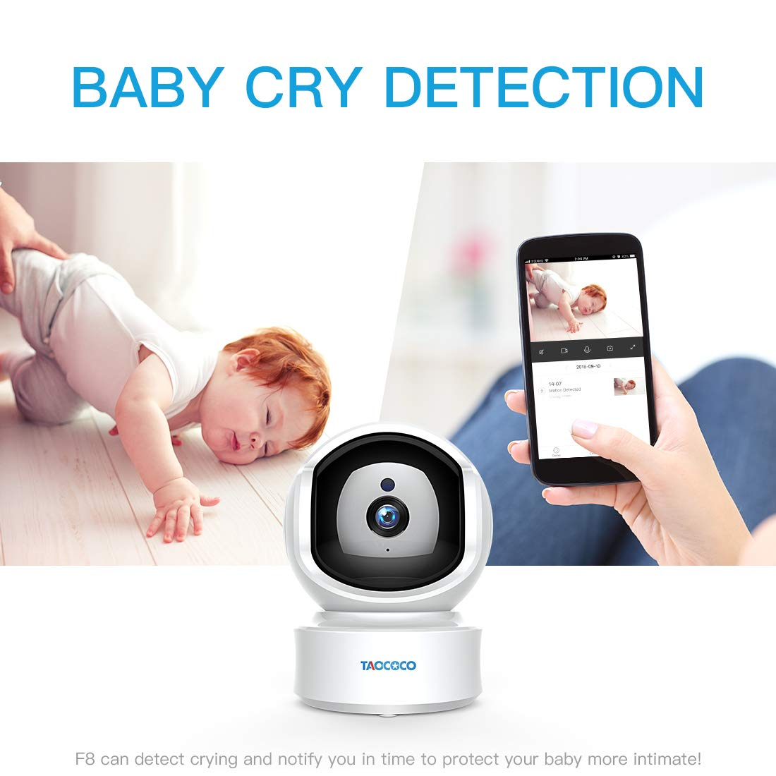 Baby Monitor Camera, Taococo IP Camera Wireless 1080P HD Home Security Camera for Baby Elder Pet Dog Monitor with Pan/Tilt Two-Way Audio,Night Vision,Motion Detection and Phone App Remote Control by FREDI (Image #3)