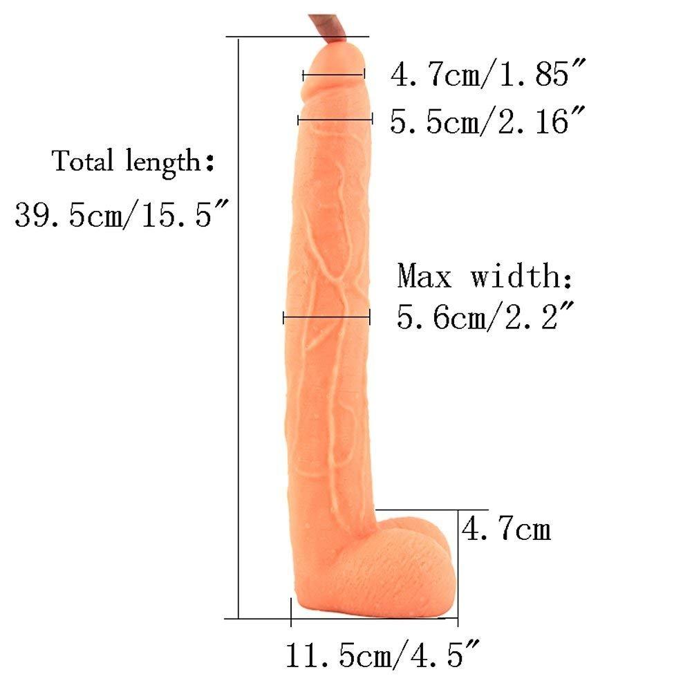 Largo Sobredimensionado Simulación Pene Raíces de los Hombres Moho Femenino Punto Vaginal Masaje Masturbación Punto Femenino G Corte Posterior Sexual Productos para Adultos D - 39.5 * 5.6cm 887643