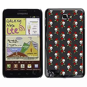 ZECASE Funda Carcasa Tapa Case Cover Para Samsung Galaxy Note I9220 No.0002442