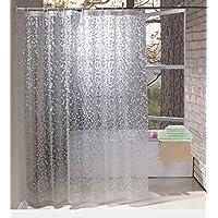 EurCross Shower Curtains EVA Waterproof And Mildew Resistant Semi Transparent Bathroom Curtain