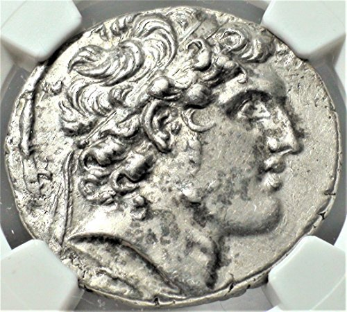 GR 152-145 BC Ancient Seleucid Empire Antique Silver Coin Tetradrachm Choice Extremely Fine NGC