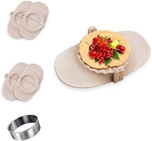 KOKOMOKITCHENS   5pcs BPA free Dumpling Maker, 4 Dumpling mold (round 3.2