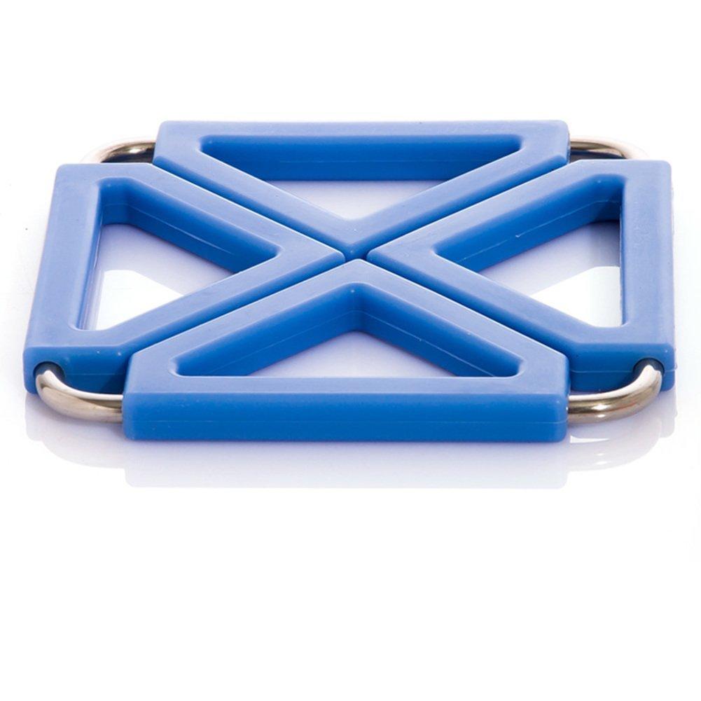 ZHAS hot pad/Kitchen stainless steel silicone heat-resistant mat/Place mat/table mat/mat/pot mat-B 12x12cm(5x5inch)