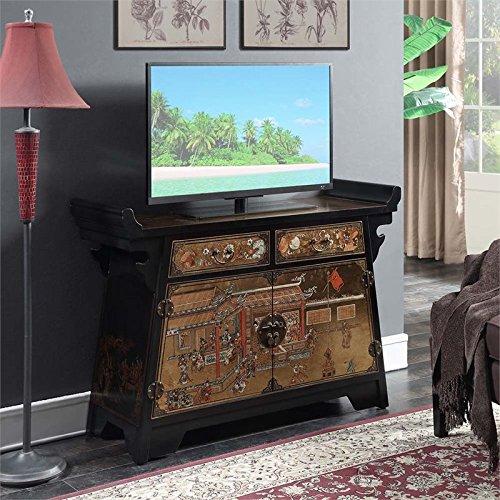 Convenience Concepts Touch of Asia Cabinet Console TV Sta...
