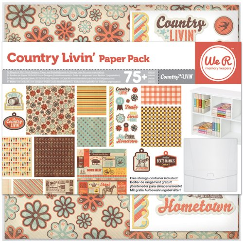 12x12 Recipe Scrapbook Paper (Country Livin'  Scrapbook Paper Pack)