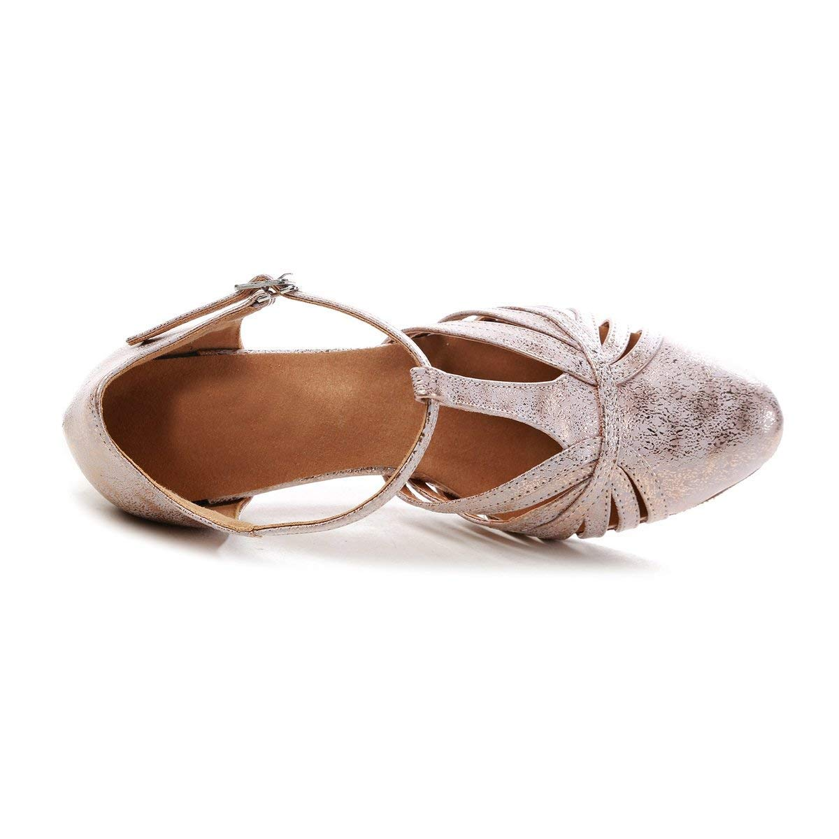 ZHRUI GL259 Frauen T-Strap T-Strap T-Strap Mode Synthetische Latin Ballroom Dance Schuhe Party Pumps (Farbe   Rosa-7.5cm Heel, Größe   5 UK) 6c4805
