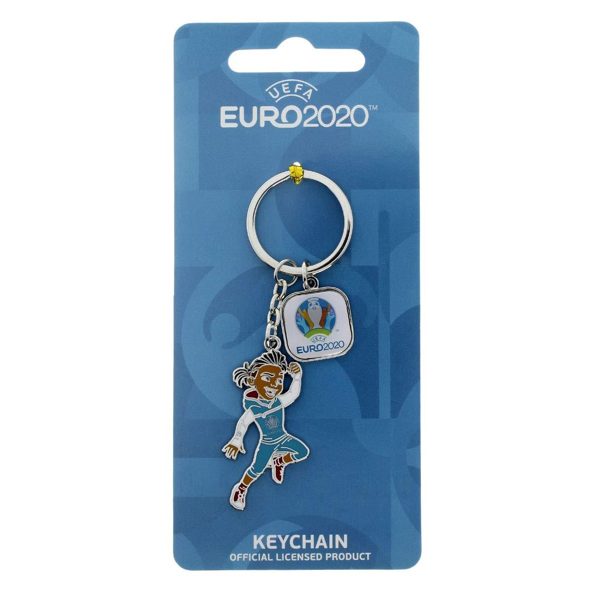 Skillzy offizielles Maskottchen Schl/üsselanh/änger mit Trophy UEFA EURO 2020/™