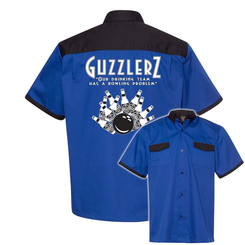 Guzzlers Stock Print on Anchor Man Bowling Shirt by Cruisin' USA