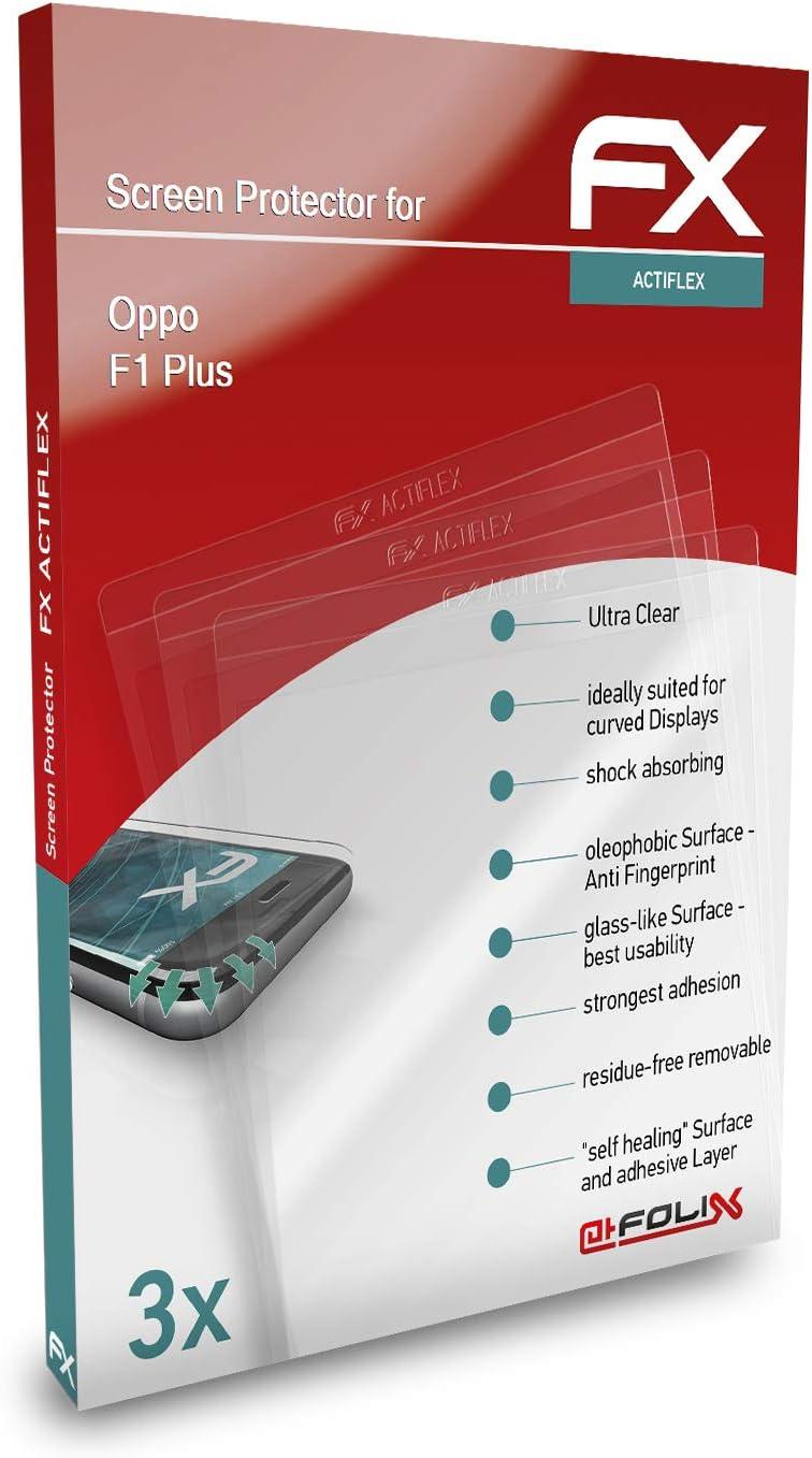 atFoliX Película Protectora Apto para OPPO F1 Plus / R9 Protector ...