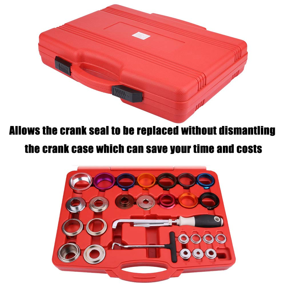 Keenso 27 Pcs Car Camshaft Crank Crankshaft Oil Seal Remover Installer Removal Tool Kit by Keenso (Image #3)