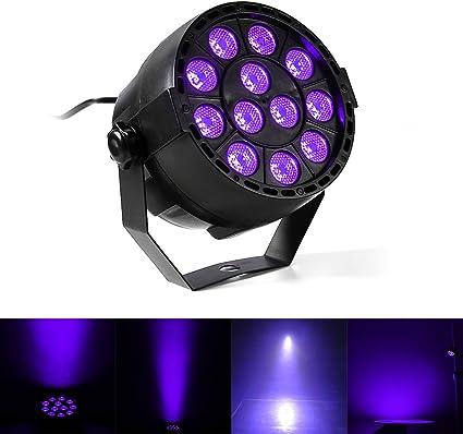 gledto 12 LED UV Luz Negro lámpara de escena luces discoteca Faro ...