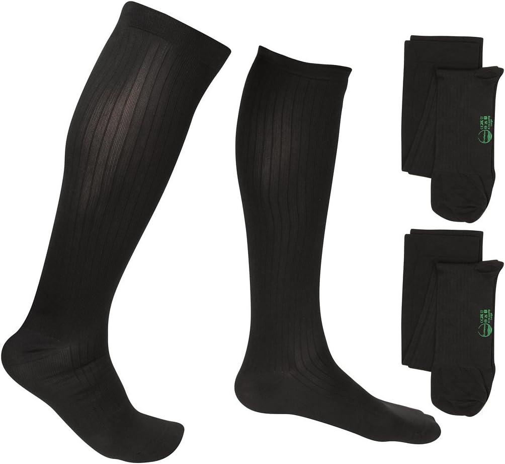 2 Pair Evonation Men'S Usa gemacht Graduated Compression Socks 8-15 Mmhg Mild Pressure Medical Quality Knee hoch Orthopedic Support Stockings Hose - Best Comfort Fit, Circulation, Travel (Large, Black)
